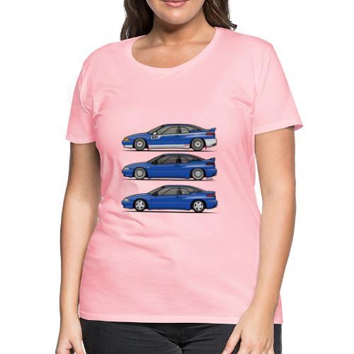 Subie Alcyone SVX Laguna Blue Pearl Trio - Women's Premium T-Shirt