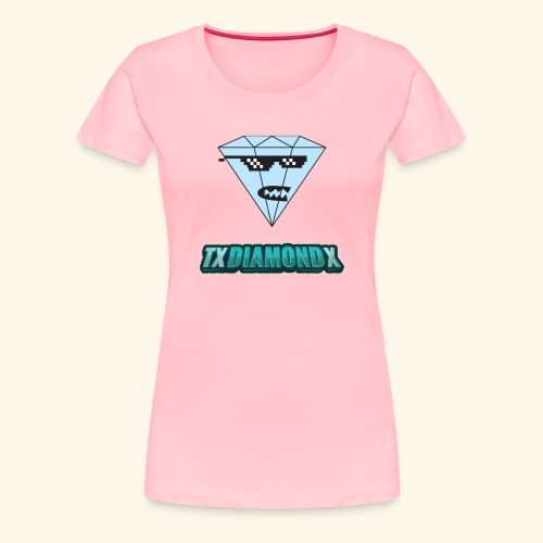 Txdiamondx Diamond Guy Logo - Women's Premium T-Shirt