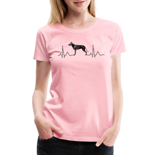 ECG with Dog - Women's Premium T-Shirt