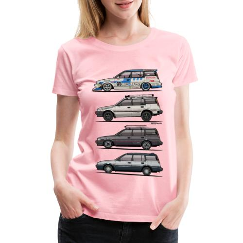 Stack of Toyota Corolla E90 - Women's Premium T-Shirt