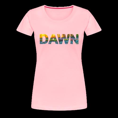 DAWN (sunset texture) - Women's Premium T-Shirt