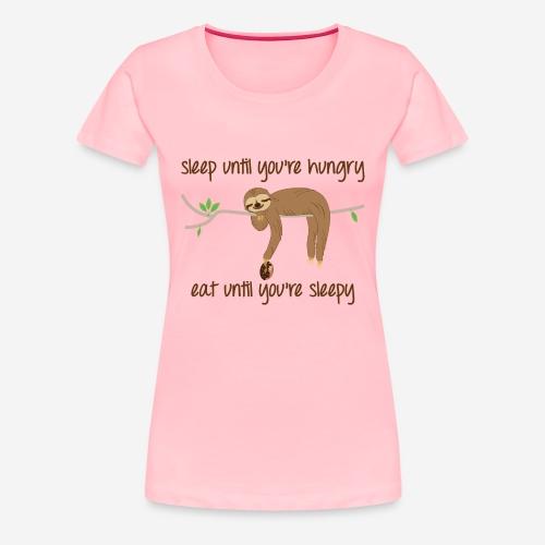 Sleepy Sloth - Women's Premium T-Shirt