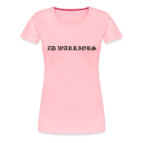 ZD Warriors Embossed Name - Women's Premium T-Shirt