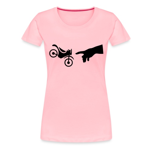The hand of god brakes a motorcycle as an allegory - Women's Premium T-Shirt