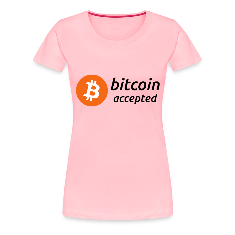 bitcoin accepted with bitcoin (BTC) coin logo - Women's Premium T-Shirt