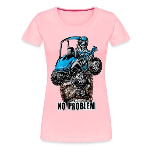 UTV SxS No Problem Blue - Women's Premium T-Shirt