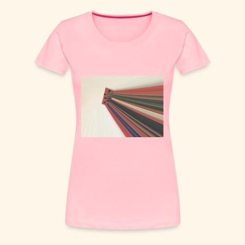 Flowers zooming toward the sky. - Women's Premium T-Shirt