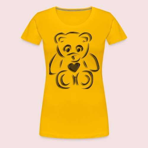 realistic teddy - Women's Premium T-Shirt