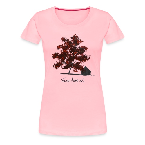 Red Tree on paper png - Women's Premium T-Shirt
