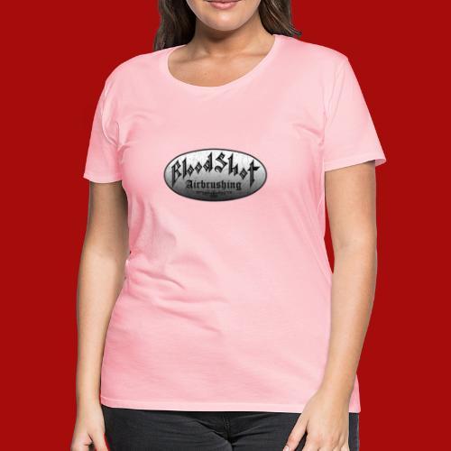 BloodShot Logo Black/White - Women's Premium T-Shirt