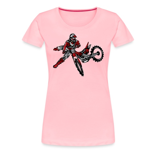 Freestyle Dirt Biker - Women's Premium T-Shirt