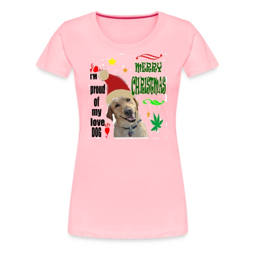 christmas with your dog - Women's Premium T-Shirt