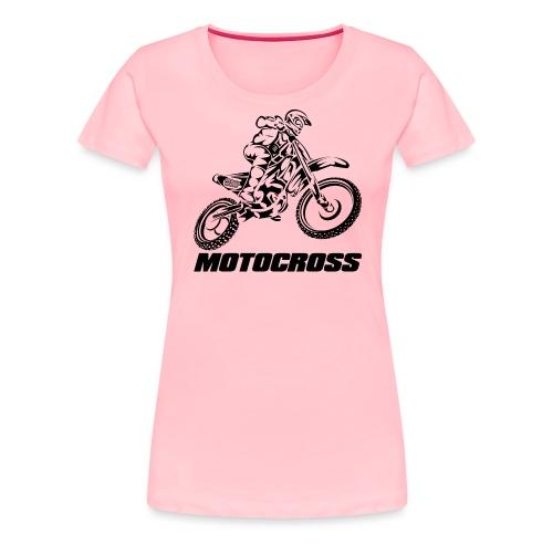 Motocross Logo Black - Women's Premium T-Shirt