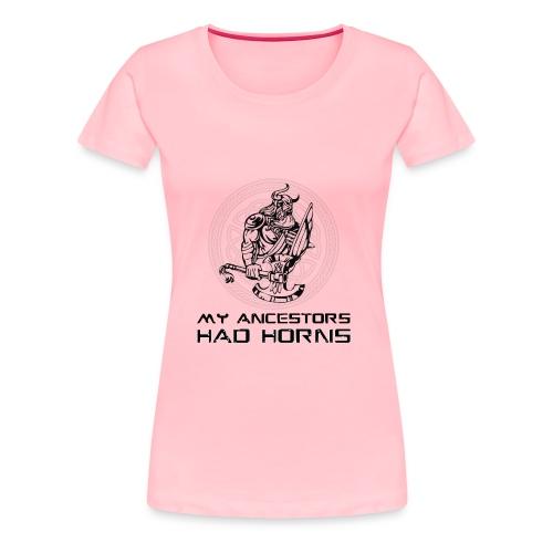 horned helmet tshirt design 2 - Women's Premium T-Shirt