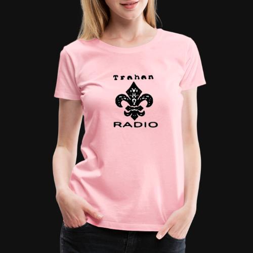 Trahan Radio Network Logo (Black) - Women's Premium T-Shirt