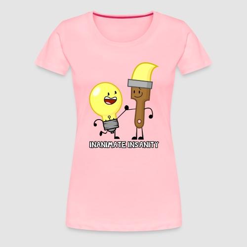 Lightbulb Paintbrush Duo - Women's Premium T-Shirt