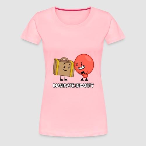 Suitcase Balloon Duo - Women's Premium T-Shirt