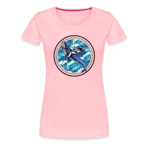 Astronaut Whale - Women's Premium T-Shirt