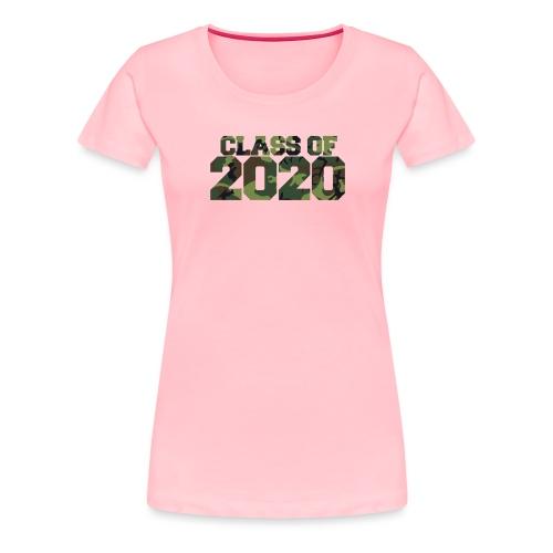 Class of 2020 Camo grad logo - Women's Premium T-Shirt