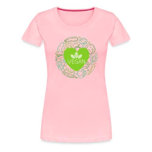 Vegan<3 - Women's Premium T-Shirt
