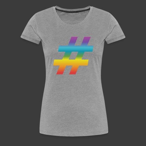 Rainbow Include Hash - Women's Premium T-Shirt