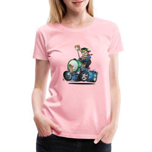 Hot Rod Electric Car Cartoon - Women's Premium T-Shirt