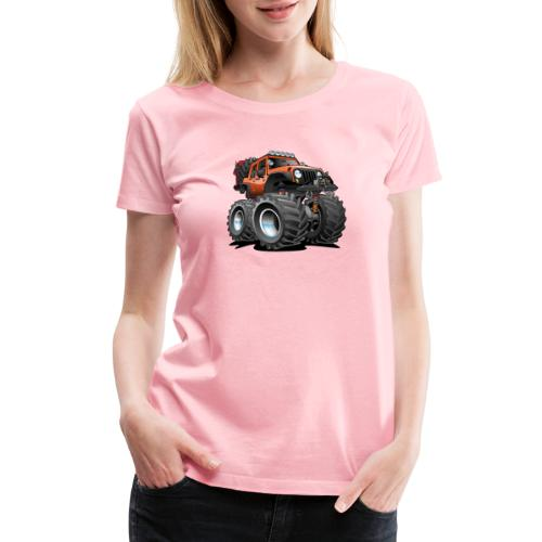 Off road 4x4 orange jeeper cartoon - Women's Premium T-Shirt