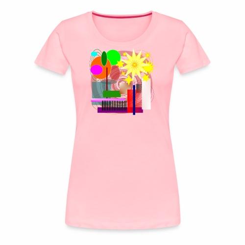Geometric Booming - Women's Premium T-Shirt