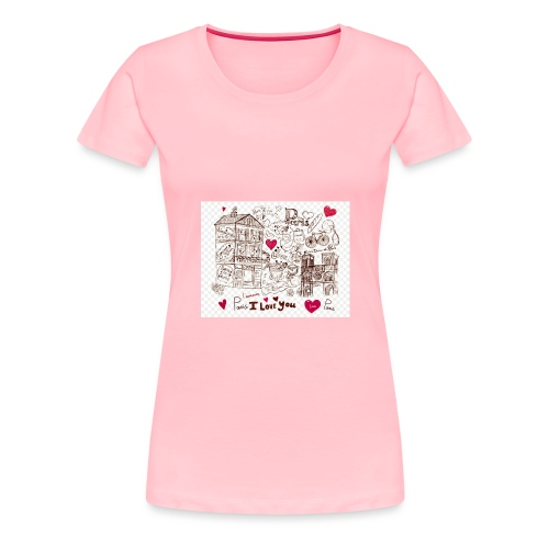 parís lovers - Women's Premium T-Shirt