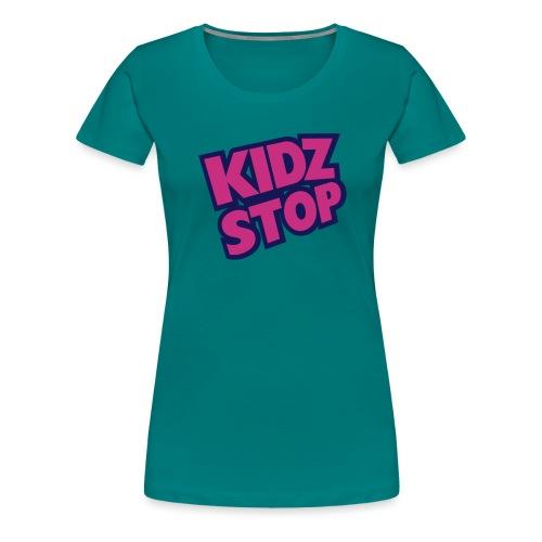 kidz stop 2color - Women's Premium T-Shirt