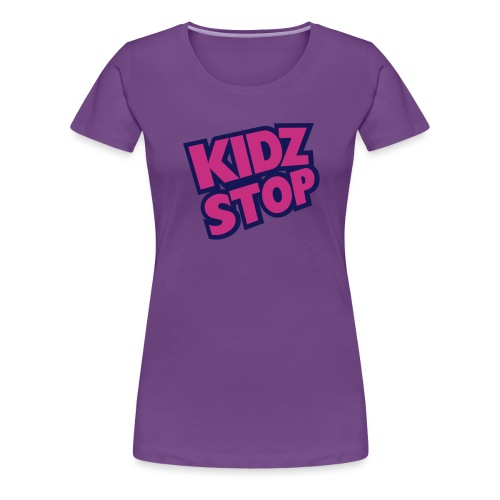 kidz stop 2color - Women's Premium T-Shirt