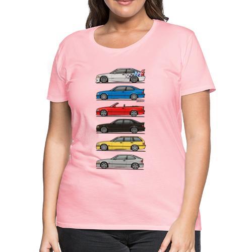 Stack of E36 Variants - Women's Premium T-Shirt