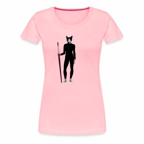 Cat Artist - Women's Premium T-Shirt