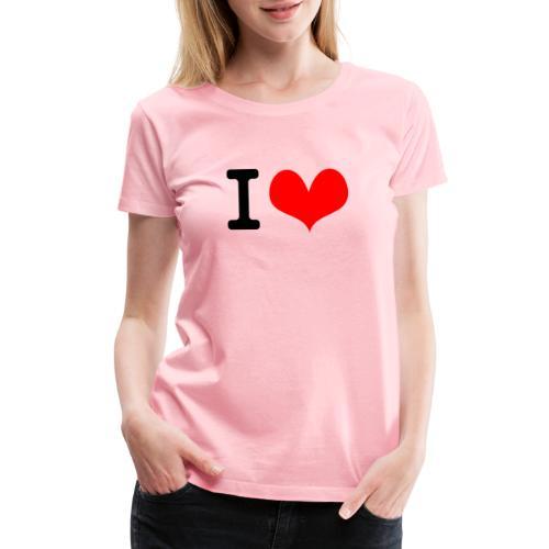 I Love what - Women's Premium T-Shirt
