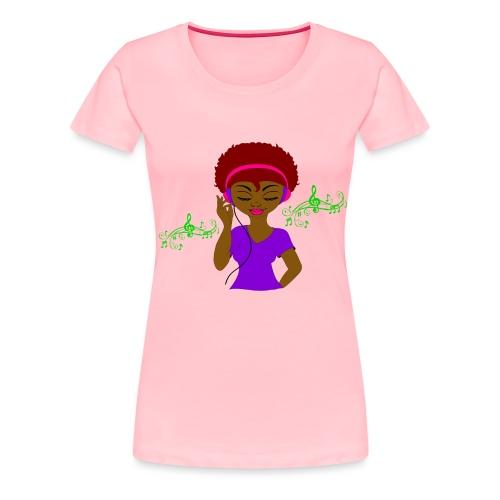 Afro DJ girl - Women's Premium T-Shirt
