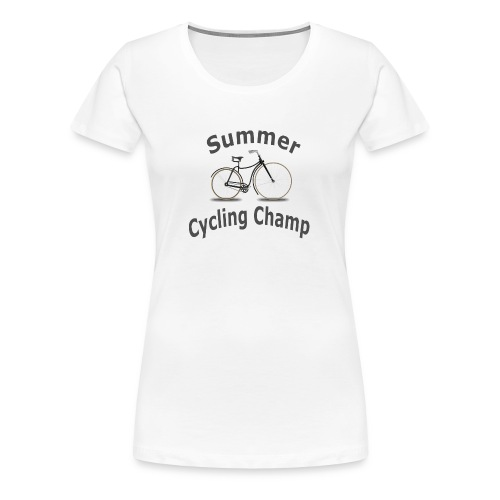 Summer Cycling Champ - Women's Premium T-Shirt