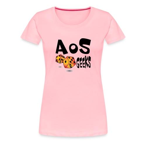 AOS Geeks NOIR - T-shirt premium pour femmes