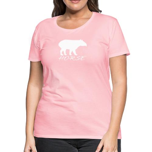 Tapir white design - Women's Premium T-Shirt