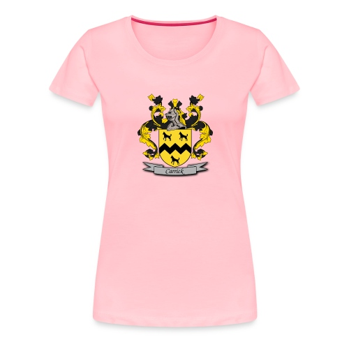 Carrick Family Crest - Women's Premium T-Shirt