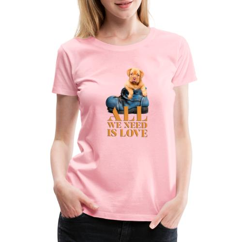 Cute Puppy Dog Love Collection - Women's Premium T-Shirt