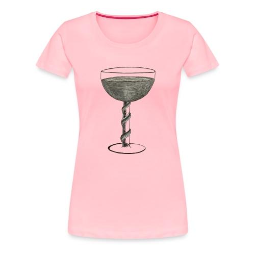 Wine glass - Women's Premium T-Shirt