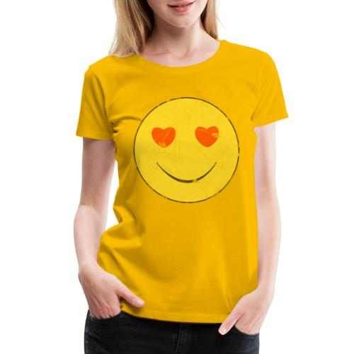 smiley face in love - Women's Premium T-Shirt