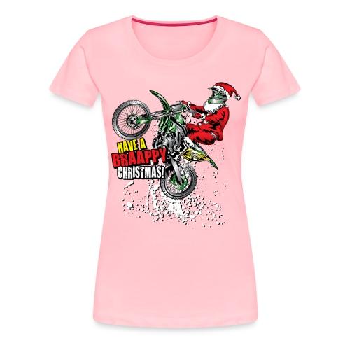 Braappy Christmas Santa - Women's Premium T-Shirt