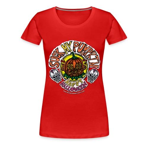 SUCK MY PUMPKIN (MENS T-SHIRT) - Women's Premium T-Shirt