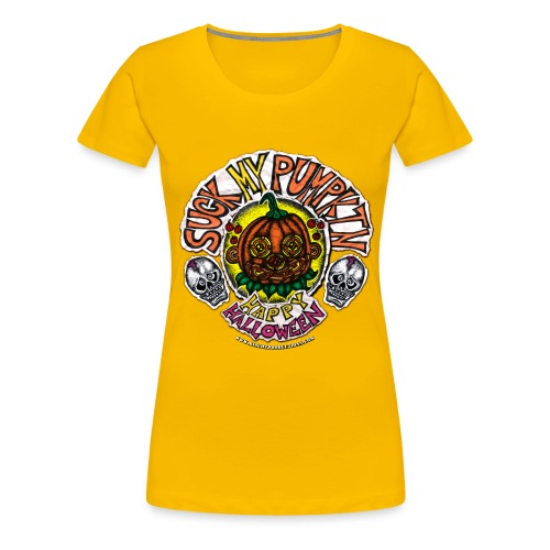 SUCK MY PUMPKIN (MENS T-SHIRT) - Women's Premium T-Shirt
