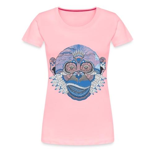 Decorated monkey face - Women's Premium T-Shirt
