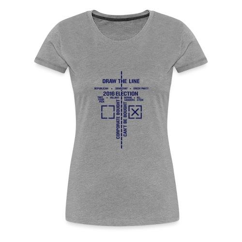 2016_Draw_The_Line_noSten - Women's Premium T-Shirt