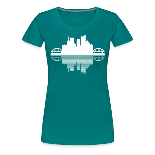 Pittsburgh Skyline Reflection - Women's Premium T-Shirt