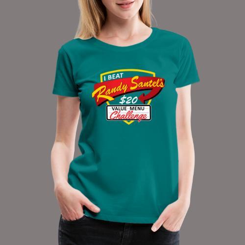 $20 Challenge Gold - Women's Premium T-Shirt