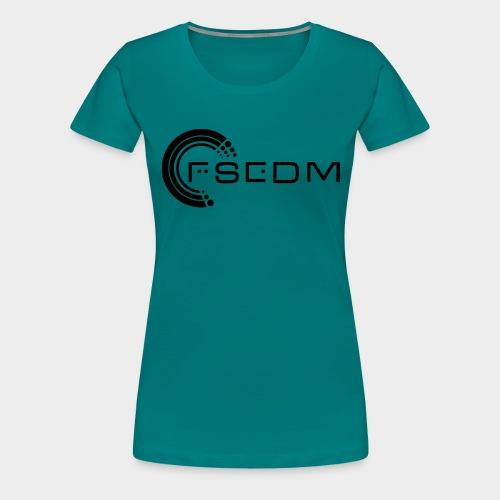 FSEDM 2015 Logo Black png - Women's Premium T-Shirt